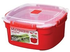 Sistema Microwave Steamer & Basket Medium 2.4L Cook Lunch Dinner Container Food