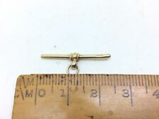 More details for superb antique vintage 9ct gold tbar fob pendant for albert chain,necklace ect