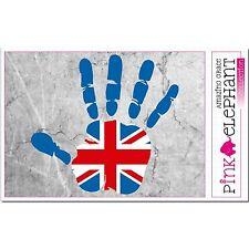 Aufkleber - UK - Hand - Fahne - bumper sticker - car flag Flagge Großbritannien