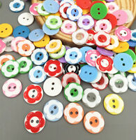 DIY 50pcs Mixed Flower resin buttons Sewing Scrapbooking Crafts 12.5mm