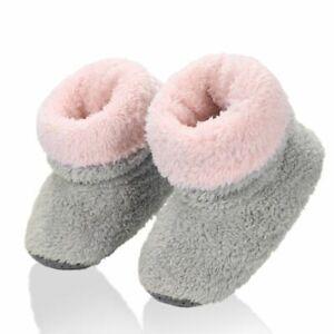 Kids Winter Slippers Warm Boy Girl Home Plush Soft Slip On House Flip Flop Shoes