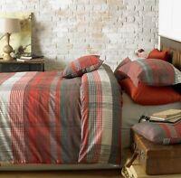 Duvet Covers & Pillowcases Poly Cotton Malvern Check Red German European Single