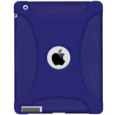 NEW AMZER SILICONE SOFT SKIN FIT CASE PROTECTIVE COVER FOR APPLE iPad 2 - BLUE