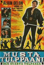 La TULIPE NOIRE BLACK TULIP Finnish Finland movie poster ALAIN DELON VIRNA LISI