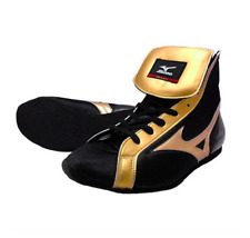 Mizuno Boxing Ring shoes Black × Gold Made in JAPAN free shipping from JPN NEW