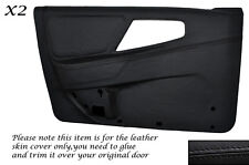 BLACK STITCHING 2X FRONT DOOR CARD COVERS FITS FORD SIERRA MK1 RS 4X4 5 DOOR