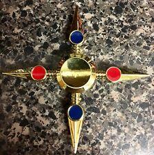 NARUTO 4-sided Golden Cross Shape Fidget Spinner Toy 🇺🇸US SELLER FAST SHIP ✈️