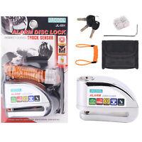 Motorcycle Disc Brake Lock Anti-theft Disc Lock Bike Scooter Wheel Alarm 110 dB