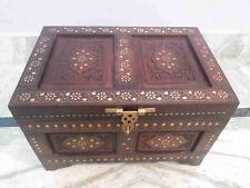 "Wooden Box Treasure Pirate Chest Collectible Home Garden Decorative 18 """