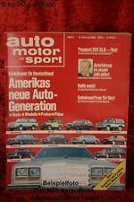 AMS Auto Motor Sport 4/80 Pontiac Phoenix Peugeot 305 GLD Eagle Station
