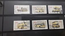 Berlin 1973  buses set of 6 fine used stamps