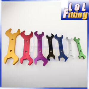 3AN To 20AN Billet Aluminum AN Wrench Set Double Ended Spanner Colorful