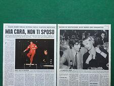KT10 Clipping Ritaglio (OGGI 70s) 31x24 cm 3 pag PAOLO ROSSI SIMONETTA RIZZATO