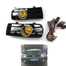 Front Bumper Grill Yellow Fog Light Lamp Grille for VW Golf MK4 97-03 03 02 Car