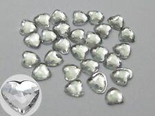 1000 Clear Acrylic Flatback Heart Rhinestone Gem 3X3mm +Storage Box Nail Art Acc