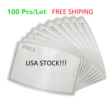 100Pcs Of Pm2.5 Filter Carbon Breathing Insert Protective Pad Gasket