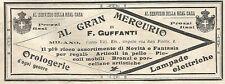 Y2183 Al Gran Mercurio di F. Guffanti - Pubblicità del 1903 - Old advertising