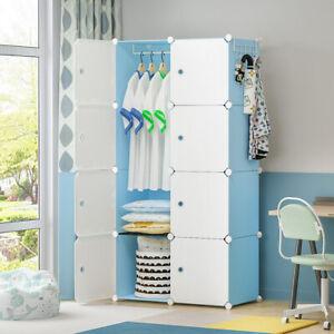 Wardrobe Closet Dresser Portable Cube Storage Organizer 8 Cubes, Depth 14 inches