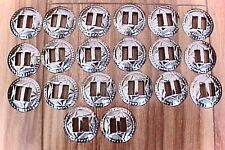 """LOT OF 20 NEW Metal  CONCHOS 1"""" INCHES in Dia. Silver  in Color"""