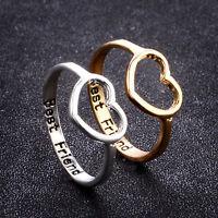 Women's Heart Love Best Friend Promise Ring Gifts for Girls Friendship Jewelry