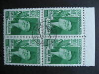 RUSSIA Sc 1860a oldest man, rarer type 1 used block of 4, check it out!