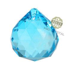 10 Light Blue Crystal Chandelier Ball Prisms Suncatcher Pendants Wedding Decor