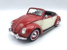 VW Volkswagen Käfer Cabrio Hebmüller 1949 - rot/ beige - 1:18 KK-Scale