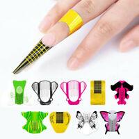 100Pcs Nail Form Guides for Acrylic UV Gel Nail Tips Extension Nail Art Tools