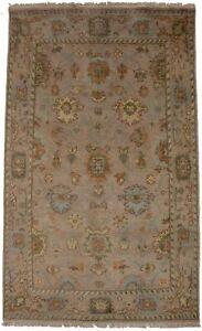 Rare Muted Color Oushak Chobi 4X6 Vintage Style Oriental Rug Handmade Carpet