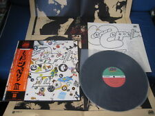 Led Zeppelin III Third Album Japan Vinyl LP w OBI Poster P-8005A 3rd Page Plant