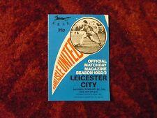 Carlisle United v Leicester City Div 2 5-2-83