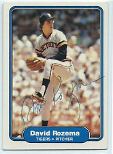 Dave Rozema signed 1982 Fleer baseball Detroit Tigers autograph #279