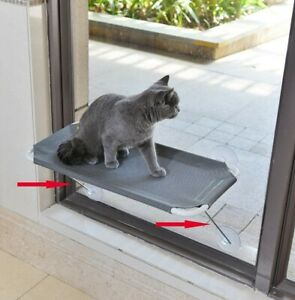 Lsaifater Grey Cat Window Perch 360 Degree Sunbath With Soft Hammock BNIB Gift