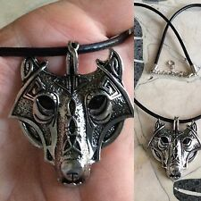 FOR MEN & WOMEN,MEDIEVAL,WOLF IN BATTLE FACE SHIELD PENDANT & NECKLACE CHOICES
