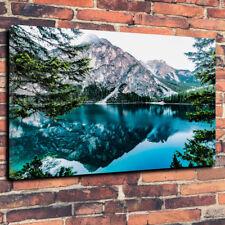 "Impresionante Azul Lago De Montaña caja impresa cuadro lienzo A1.30""x20"" 30 mm de profundidad"