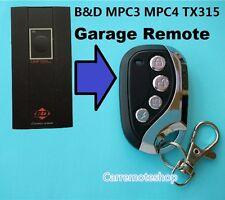 B&D BND MPC3 MPC4 TX315  Garage Door Remote CONTROL-A-DOOR  Dominator DOM503