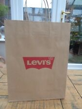 "NUOVO-Levis Brown Paper Carrier Bag 9.75"" x 13"""