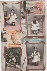 GREECE 1918  THESSALONIKI TRADITIONAL COSTUME OF GREECE