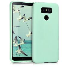kwmobile TPU Schutz Hülle für LG G6 Mintgrün matt Case Silikon Cover Handy Soft