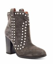 Lola Cruz Womens UK 7 EU 40 Los Angeles Suede Leather Bootie Studded Ankle Boots