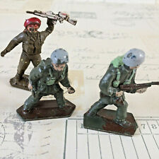 3 Vintage Collectable Lone Star Harvey Series Toy Soldiers Paratrooper Red Beret