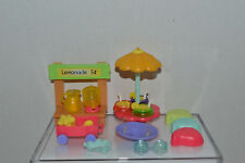 Littlest Pet Shop~Lemonade Stand Play Set~Leaf Chairs~Drinks & More~NO PETS
