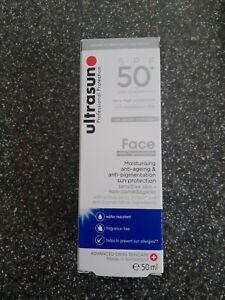 GENUINE ULTRASUN FACE ANTI-PIGMENTATION SPF 50+  (SILVER)  50ML  NEW & UNOPENED