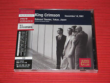 KING CRIMSON Collectors' Club 1981, 12/14, Asakusa Kokusai Hall, Tokyo  JAPAN CD