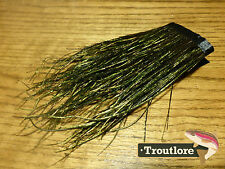 """FLY TYING FEATHERS - PEACOCK HURL STRUNG 12 INCH SKIRT LARGE HERL 4-7"""" - NEW"""