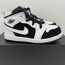 Jordan 1 Mid TD Toddler Size 6c White Black Oreo New Retro 640735 113