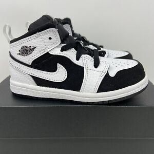 Jordan 1 Mid TD Toddler Size 8c White Black Oreo New Retro 640735 113