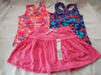 Children's Place, Jumping Beans Girl's 3 Piece Outfit, 2 Tops, 1 Skort, Size 4