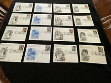 First Day Covers Fdc - Lot Of 16 Unaddressed Disney Postcards - Artcraft