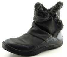 Earth Boot Sz 8 M Warm Round Toe Gray Leather Women